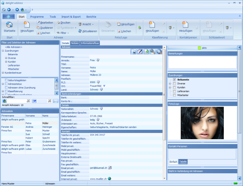 delight address Freeware Screenshot