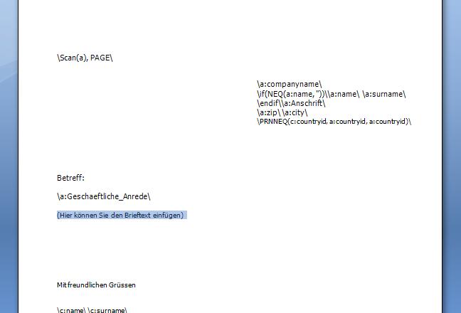 Adressverwaltung Wie Kann Ich Einen Serienbrief Erstellen